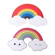 Rainbow And Cloud Wall Decals Wall Stickers For Nursery Kids Bedroom Living Room Stickers Aliexpress