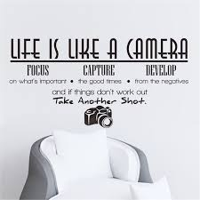 Wall Sticker 1pc Life Is Like A Camera Wall Sticker Quote Vinyl Room Wall Decal Home Letters Wallpaper Diy Sticker 40d8 Sticker Logo Stickers Elephantsticker Keyboard Aliexpress