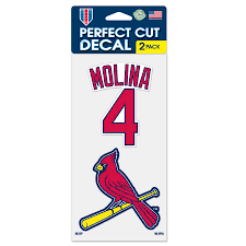 Yadier Molina St Louis Cardinals Wincraft 2 Pack 4 X 8 Perfect Cut Player Decals