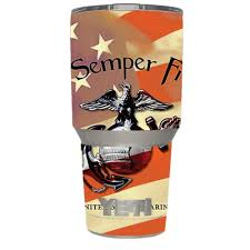 Skin Decal Vinyl Wrap For Yeti 30 Oz Rambler Tumbler Cup 6 Piece Kit Stickers Skins Cover Semper Fi Usmc America Walmart Com Walmart Com