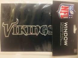 Variation Minnesota Vikings Chrome Window Graphic Silver Sticker Decal Car Auto Ebay