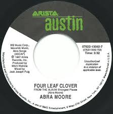Four leaf clover by Abra Moore, 7inch x 1 with recordsale - Ref:3099874914