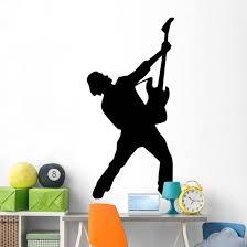 Amped Rockstar Music Silhouette Wall Decal Wallmonkeys Com