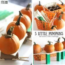Five Little Pumpkins Stem Challenge Little Bins For Little Hands