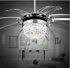 invisible crystal fan ceiling fan light