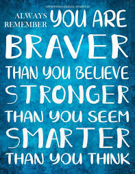 Inspirational Journal to Write in - Always Remember You Are Braver ...