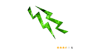Amazon Com Lightning Bolt Vinyl Decal Sticker 4 5 X 3 75 Green Flames Home Improvement