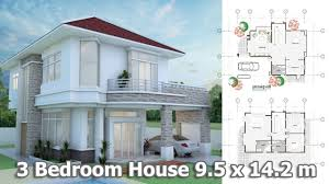 house plans 9 5 x 14 with 3 bedrooms