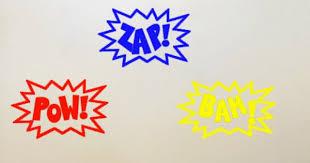 Wall Art Decal Pow Zap Bam Superhero Or By Thecraftygeeks On Etsy 20 00 Decal Wall Art Wall Vinyl Decor Vinyl Wall Decals