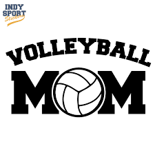 Volleyball Mom Text With Volleyball Center Car Stickers And Decals