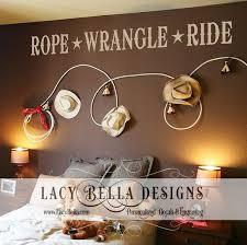 Www Lacybella Com Rope Wrangle Ride Vinyl Lettering Cowboy Western Wall Decal Cowboy Themed Boys Bedroo Western Bedroom Decor Cowboy Room Western Wall Decor