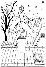 1001 Kleurplaten Sinterklaas Sint Sint Doet Kado In De