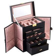 case professional pu leather vanity
