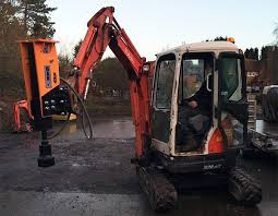 Compact Tractor Attachments Hydraulic Post Driver For Excavator