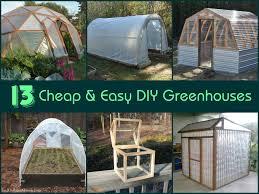 13 easy diy greenhouses