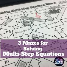 solving multi step equations activity