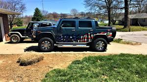 American Flag Wrap On H2 Hummer