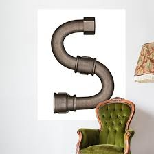 Pipe Alphabet Letter Wall Decal Design 1 Wallmonkeys Com