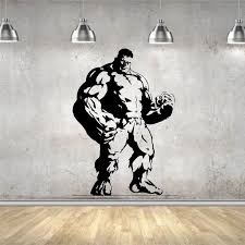 Cool Wall Sticker Marvel Movie Vinyl Decor Art Mural Quote The Incredible Hulk Strong Man Wall Decor Home Decal Wall Stickers Aliexpress