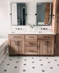 vintage pivot mirror wood bathroom