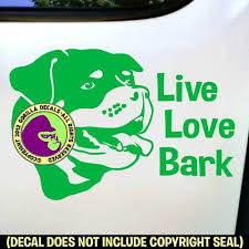 Rottweiler Live Love Bark Dog Vinyl Decal Sticker Gorilla Decals