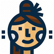 myanmar powder thanaka woman icon