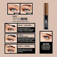 maybelline tattoo brow easy l off
