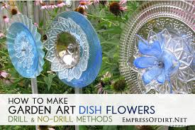 glass garden flowers made from plates