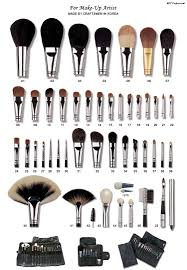 diffe types of makeup burshes