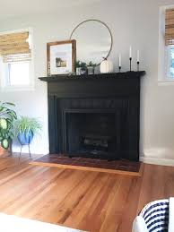 painting a brick fireplace lovebergs