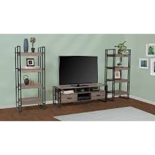 tv stand with 2 media storage shelves