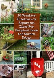 18 cool wheelbarrow repurposing ideas