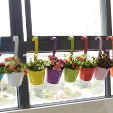 Metal Iron Hanging Flower Pot Vase Planter Indoor Fence Wall Hanging Balcony Garden Patio Planter Buy Hanging Flower Planter Galvanized Iron Planters Metal Flower Pots Product On Alibaba Com