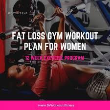 fat loss gym workout plan for women