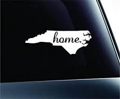 Amazon Com Expressdecor Home State North Carolina Symbol Decal Family Love Car Truck Sticker Window White Automotive