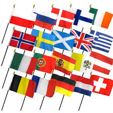 set of 20 european flags 4x6in