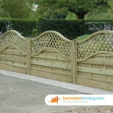 Omega Lattice Top Fence Panels 3ft X 6ft Natural Berkshire Fencing