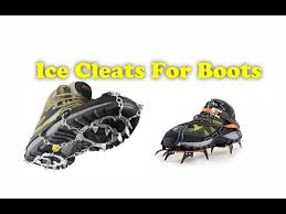 how to make ice cleats for boots at