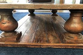 oversized rustic farmhouse coffee table