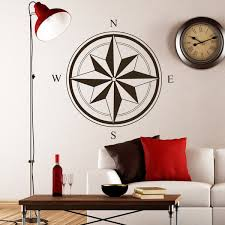 Shop Compass South West East Star Wall Art Sticker Decal Brown Overstock 11179512