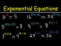 solving exponential equations with