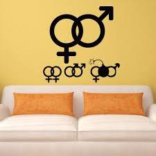 Amazon Com Wall Decal Woman Man Designation Anatomy Bomb Eve Adam Relations Love M659 Handmade