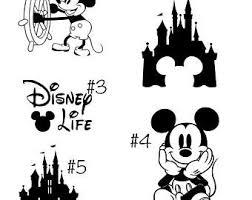 Disney Vinyl Decal Etsy