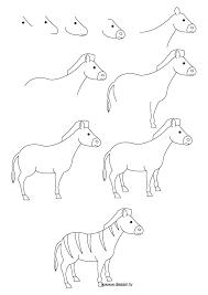 How To Draw A Zebra Zebre Dessin Dessin D Animal Facile A Dessiner