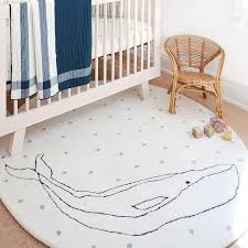 petit pehr whale rug 5 round with