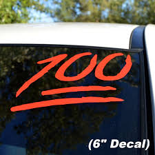 Keep It 100 Emoji Vinyl Decal Sticker Custom Size And Color Etsy