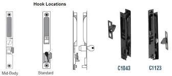 flush sliding glass door handle