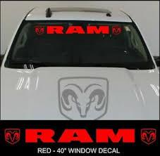 Dodge Ram Truck Windshield Vinyl Decal Sticker Banner 40 Vehicle Red Graphics Ebay