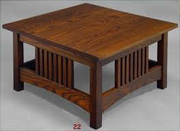 square mission style coffee table with