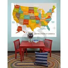 Large Wood Grain Us Map Wall Decal 6 Ft X 4 5 Ft Jack And Jill Boutique